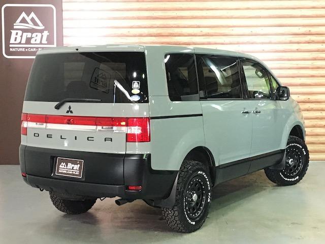 シャモニー NEWペイント/ツイードグレー 1.5インチリフトアップ BFグッドリッチKO2タイヤ新品 TT製16インチAW新品 腰下ラインX調・マッドブラックペイント 切替4WD 前席シートヒーター ETC(3枚目)