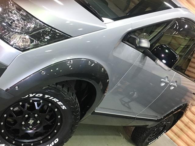 D パワーパッケージ 1インチリフトUP JAOS製オーバーフェンダー 軽油 JAOS製オーバーフェンダー 新品エクストリームJ製16インチAW新品TOYO製オープンカントリーR/Tエンジンフードエンブレム各所ブラック塗装(14枚目)