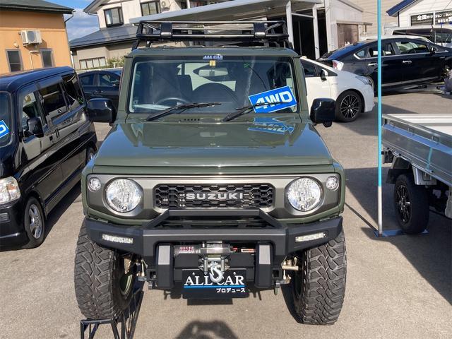 XL 4WD 7インチワイドスクリーンアンドロイド シートヒーター スマートキー 特注アーミーグリーン オフロードウインチバンパー 電動ウインチ リフトアップ オフロードルーフラック リアラダー 社外LED(15枚目)