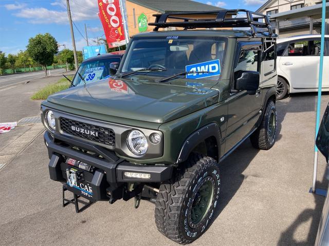 XL 4WD 7インチワイドスクリーンアンドロイド シートヒーター スマートキー 特注アーミーグリーン オフロードウインチバンパー 電動ウインチ リフトアップ オフロードルーフラック リアラダー 社外LED(17枚目)