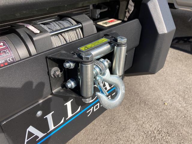 XL 4WD 7インチワイドスクリーンアンドロイド シートヒーター スマートキー 特注アーミーグリーン オフロードウインチバンパー 電動ウインチ リフトアップ オフロードルーフラック リアラダー 社外LED(18枚目)