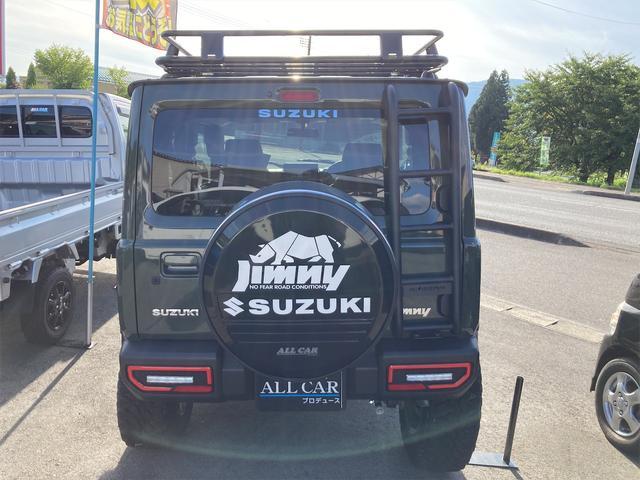 XL 4WD 7インチワイドスクリーンアンドロイド シートヒーター スマートキー 特注アーミーグリーン オフロードウインチバンパー 電動ウインチ リフトアップ オフロードルーフラック リアラダー 社外LED(20枚目)