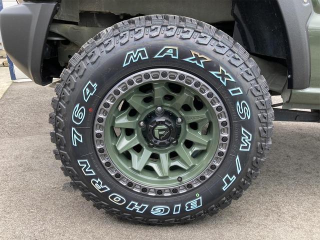 XL 4WD 7インチワイドスクリーンアンドロイド シートヒーター スマートキー 特注アーミーグリーン オフロードウインチバンパー 電動ウインチ リフトアップ オフロードルーフラック リアラダー 社外LED(23枚目)