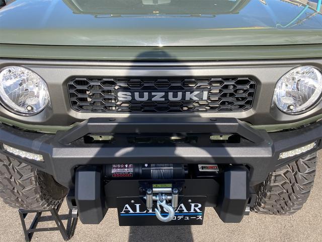 XL 4WD 7インチワイドスクリーンアンドロイド シートヒーター スマートキー 特注アーミーグリーン オフロードウインチバンパー 電動ウインチ リフトアップ オフロードルーフラック リアラダー 社外LED(26枚目)