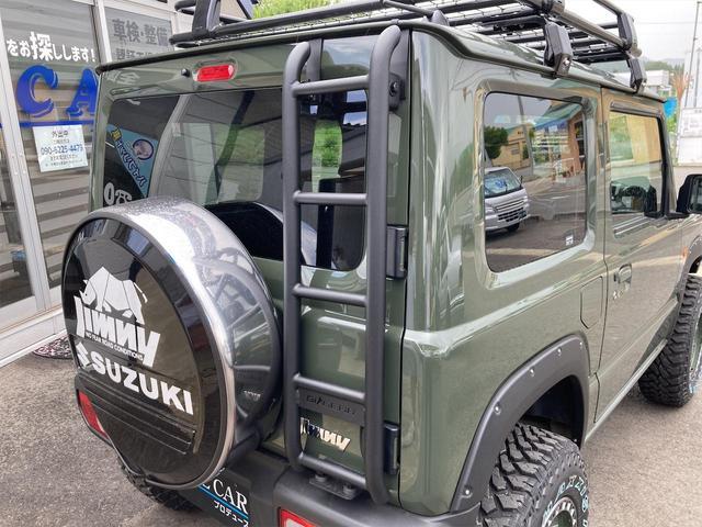 XL 4WD 7インチワイドスクリーンアンドロイド シートヒーター スマートキー 特注アーミーグリーン オフロードウインチバンパー 電動ウインチ リフトアップ オフロードルーフラック リアラダー 社外LED(30枚目)