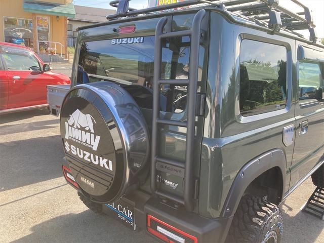 XL 4WD 7インチワイドスクリーンアンドロイド シートヒーター スマートキー 特注アーミーグリーン オフロードウインチバンパー 電動ウインチ リフトアップ オフロードルーフラック リアラダー 社外LED(32枚目)