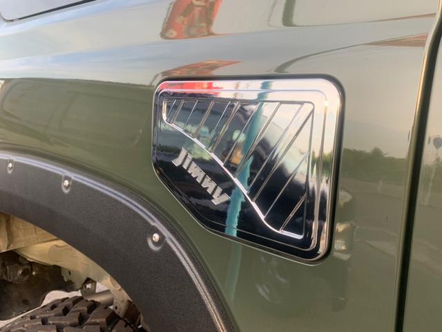 XL 4WD 7インチワイドスクリーンアンドロイド シートヒーター スマートキー 特注アーミーグリーン オフロードウインチバンパー 電動ウインチ リフトアップ オフロードルーフラック リアラダー 社外LED(44枚目)