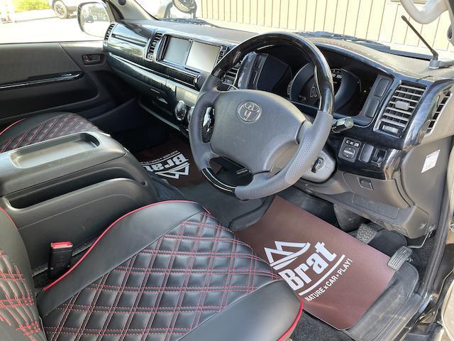 ロングスーパーGL 3型 4WD ベット 新品BFグッドリッチ JAOSオーバーフェンダー ブルバー クラッツィオシートカバー 黒木目パネル/ステアリング/シフト ツインモニター スクリーンドア(アミ戸)ハンガーレール(34枚目)