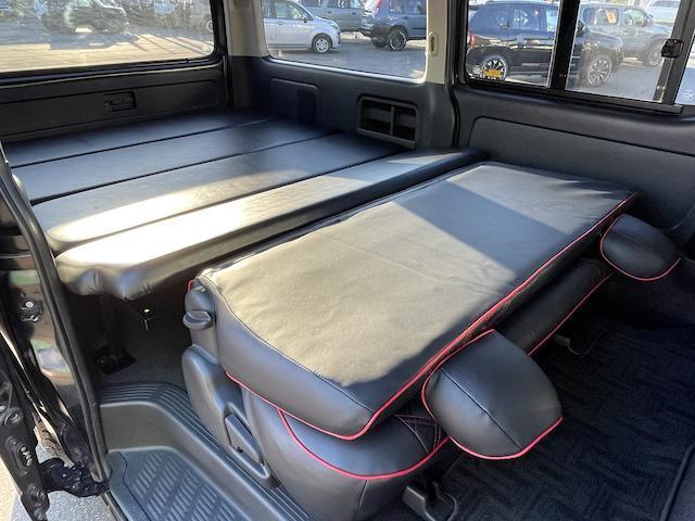 ロングスーパーGL 3型 4WD ベット 新品BFグッドリッチ JAOSオーバーフェンダー ブルバー クラッツィオシートカバー 黒木目パネル/ステアリング/シフト ツインモニター スクリーンドア(アミ戸)ハンガーレール(54枚目)