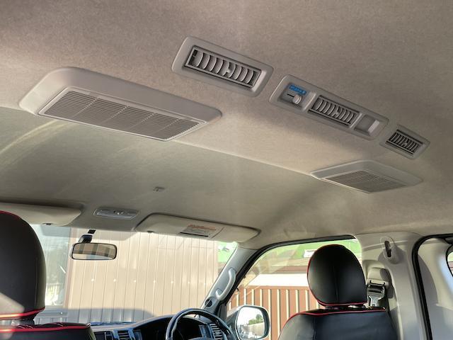 ロングスーパーGL 3型 4WD ベット 新品BFグッドリッチ JAOSオーバーフェンダー ブルバー クラッツィオシートカバー 黒木目パネル/ステアリング/シフト ツインモニター スクリーンドア(アミ戸)ハンガーレール(56枚目)