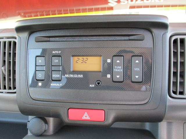 CDプレーヤー付、AM/FMラジオステレオが標準装備です