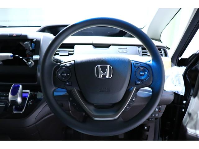 運転席用i-SRSエアバッグです!「早く・優しく・長く」膨らむHonda独自のエアバッグ!様々な体格や衝突状況に対応し、乗員保護性能を高めます。
