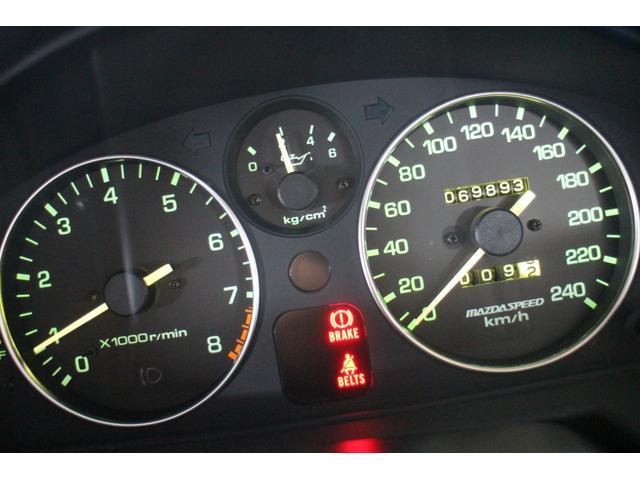 23,561km時にマツダスピード240km/hメーターに交換し現在のメーターと併せ推定93,500キロ!交換時のディーラーでの記録(原本)が無いために走行不明車での販売となります(コピーはあります)