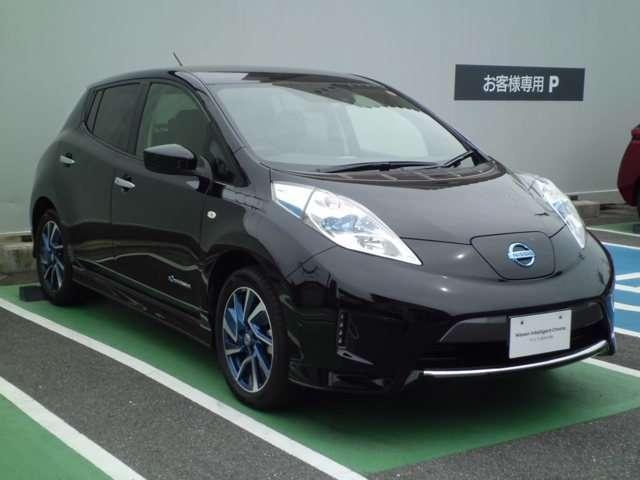 日産 リーフ 30kWh X エアロスタイル 元社有車 専用ナビ