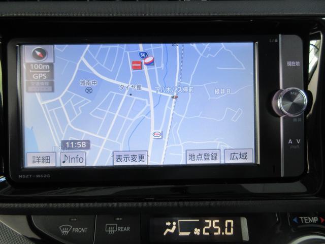 トヨタ アクア S ナビ バックガイドモニタ