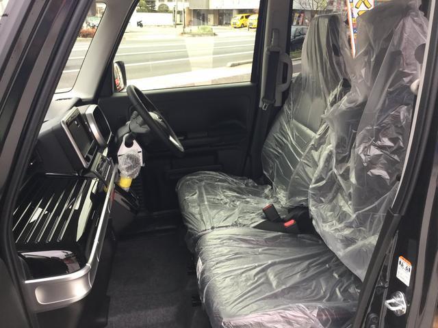 広々シート!軽自動車だから「狭い!!」とは言わせません!!大人でも十分な広さを保っていますし、シートを倒してラゲッジスペースを広くしたり、使い勝手はセダンやミニバンにも負けません!!