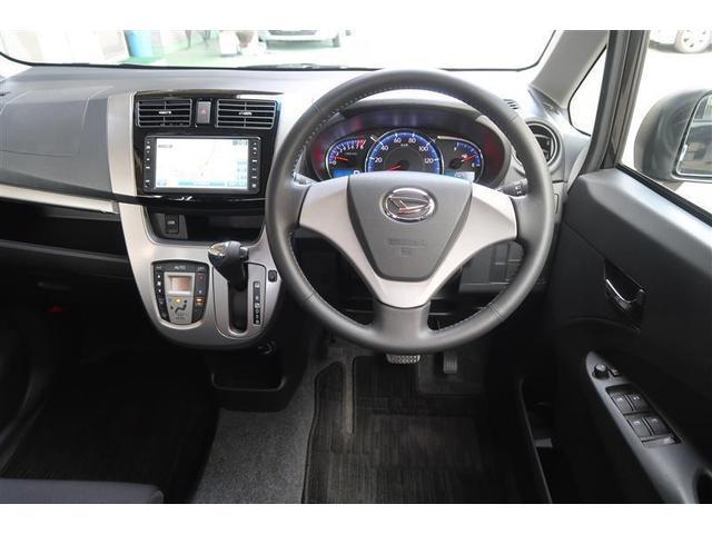 カスタム X バックM TVナビ CDデッキ 盗難防止システム LEDヘッド ETC メモリーナビ キーフリーシステム アルミ ワンセグTV オートエアコン ベンチシート ABS アイストップ AUX Sキー(4枚目)