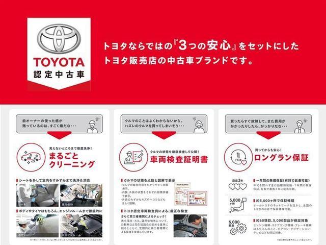 こちらの車は「TOYOTA認定中古車」となります。まるごとクリーニング・車両検査証明書・ロングラン保証付