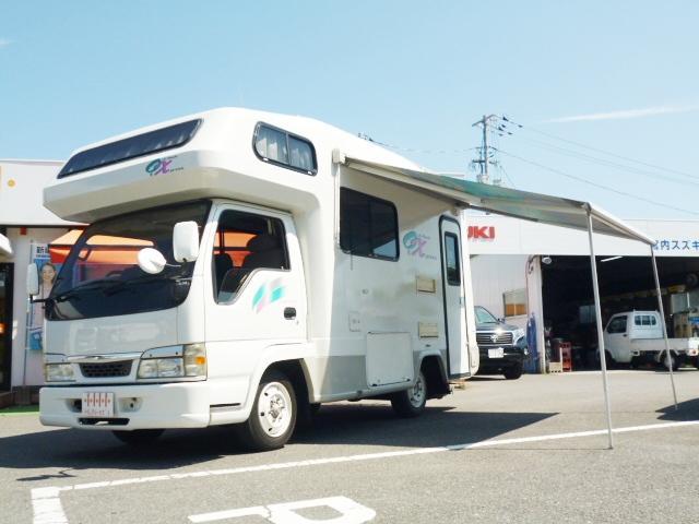 いすゞ エルフトラック YMS OXキャンピング ナビETCリア地デジ 9名乗り