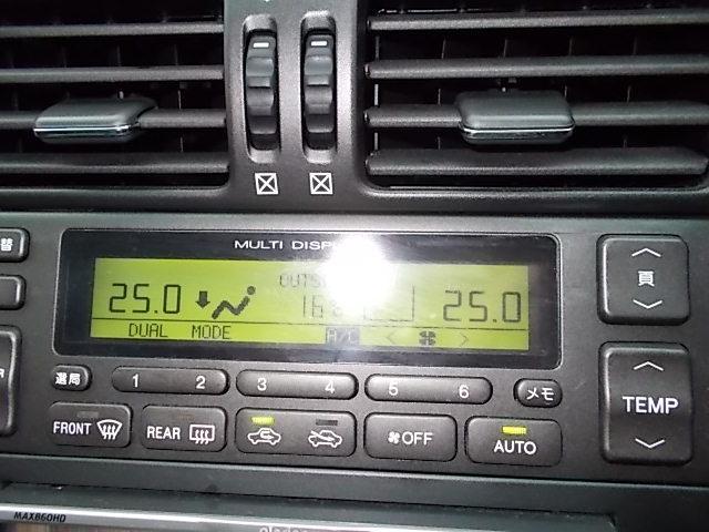 エアコンパネル交換済みのアリストベルテックスローダウン車高調エアロ付きです!