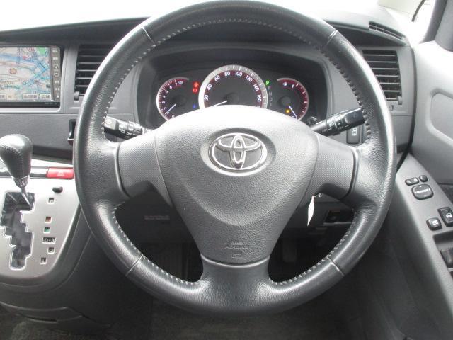 トヨタ アイシス プラタナ HDDナビ 純エアロ HID 左電動スライド