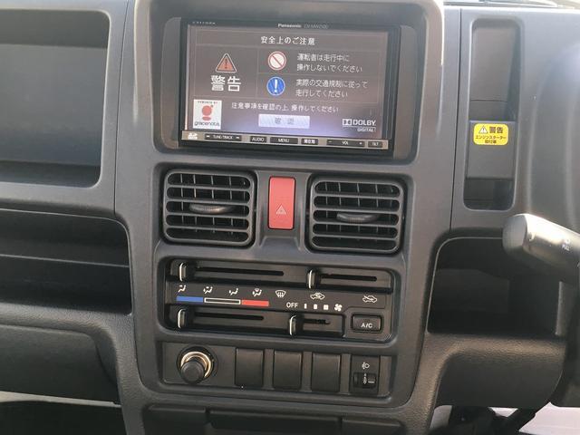 スズキ キャリイトラック KCエアコン・パワステ ストラーダSDナビ フルセグ ETC