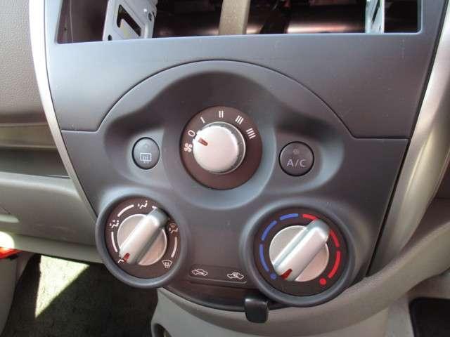 使いやすいダイヤル式のエアコン☆オーディオレス車ですのでお好きなナビやオーディオを装着ください♪