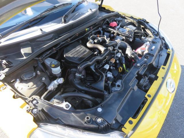 ツインカムターボのパワフルなエンジンは、軽量なコペンを軽快に走らせてくれます。