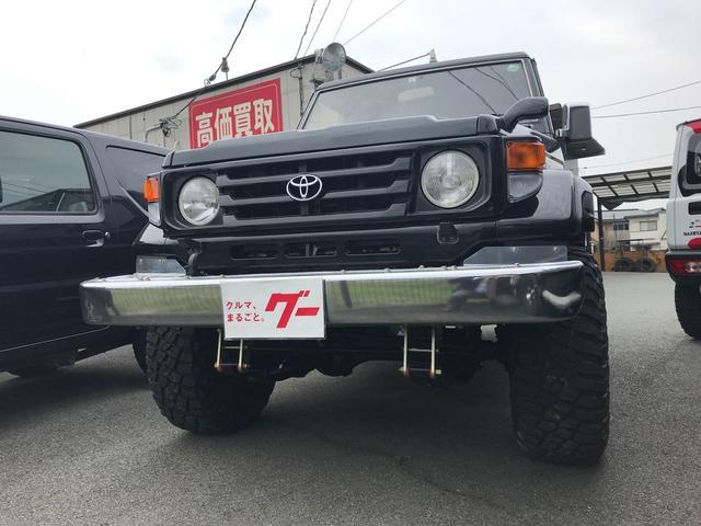 トヨタ ランドクルーザー70 ZX 4WD AW CD ETC 5名乗り クロカン