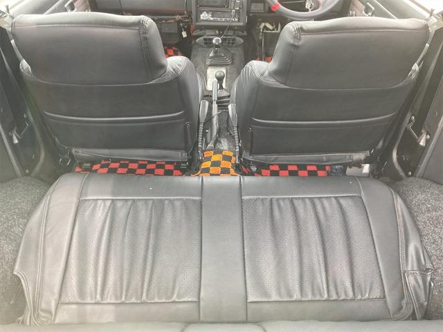 ランドベンチャー リフトアップ オーバーフェンダー 前後社外バンパー 4WD シルバー 5MT AC AW パワステ(11枚目)