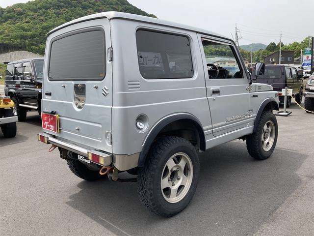 ランドベンチャー リフトアップ オーバーフェンダー 前後社外バンパー 4WD シルバー 5MT AC AW パワステ(15枚目)