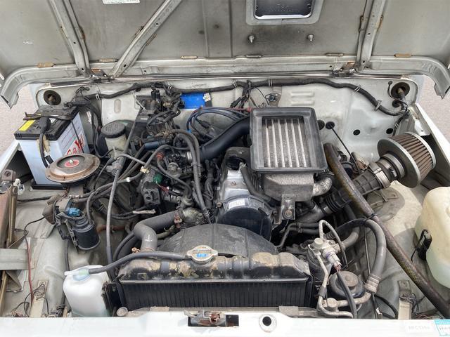 ランドベンチャー リフトアップ オーバーフェンダー 前後社外バンパー 4WD シルバー 5MT AC AW パワステ(20枚目)