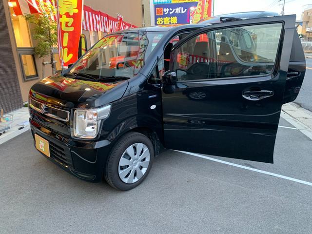 ハイブリッドFX 新品ナビテレビ ブルートゥース対応 新車保証令和5年9月 ハイブリッド 安全ブレーキ キーフリー プッシュスタート オートエアコン オートライト 電動格納ミラー(46枚目)