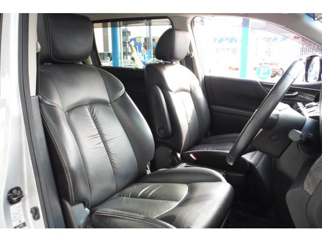 日産 エルグランド ライダー 黒本革シート マニュアルシート 両側電動スライド
