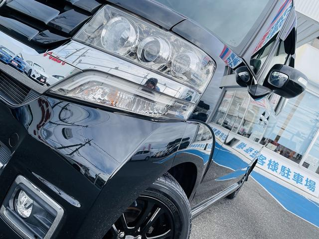G SSブラックスタイルパッケージ 専用ブラックアルミ&グリル 両側パワースライドドア シートヒーター スマートキー プッシュスタート ステアリモコン ビルトインETC HID オートライト フォグ(11枚目)