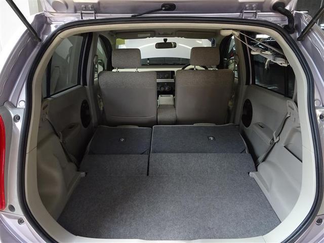 リヤシートを倒せば、長い荷物も積むことが可能です。