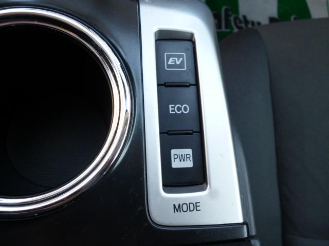 運転はパワーモード、エコモードに切り替えることができます。