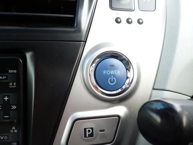 エンジン始動のプッシュスタートボタン!