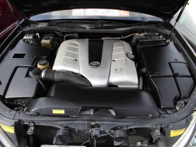 トヨタ セルシオ B仕様 eRバージョン 純正メッキ17AW 黒革 サンルーフ