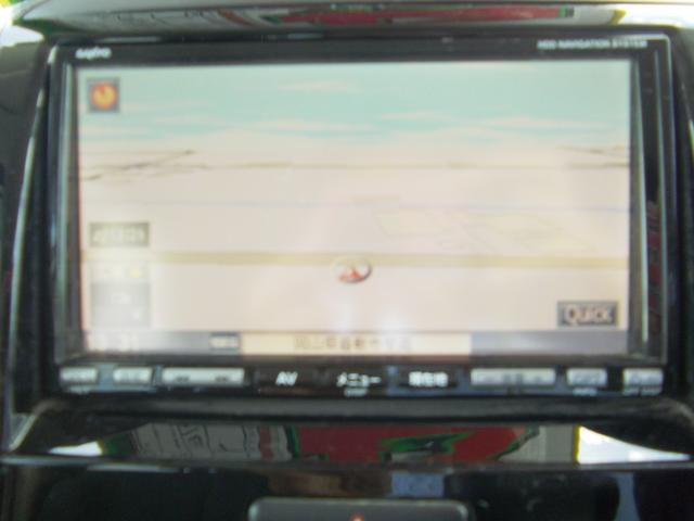 HDDナビが付いて快適ドライブをアシスト。