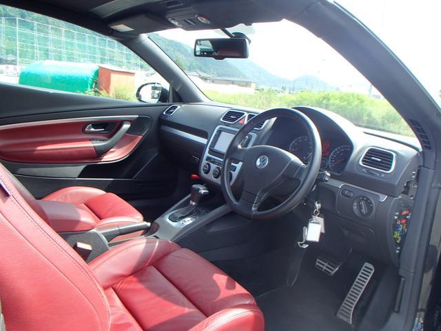 フォルクスワーゲン VW イオス V6 赤革Pシート HDDナビ HID サンルーフ