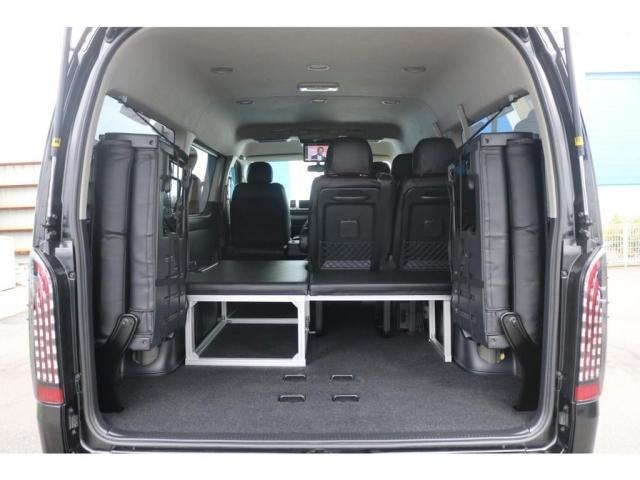 GL 買取直販 4型ワゴンGL ワンオーナー ガソリン 2WD 希少内装架装 ベッドキット 1.5インチローダウン 17インチアルミホイール ナビ フリップダウンモニター バックカメラ ETC(16枚目)