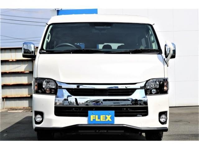 GL ロング VER.1 FLEX+JAOSコンプリートカー トヨタセーフティセンス バッドフェイスボンネット 16インチアルミホイール ナビ フリップダウンモニター バックカメラ ETC ベッドキット(6枚目)