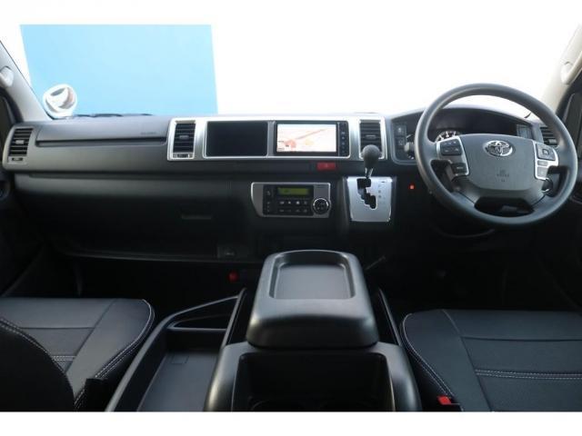 GL ロング VER.1 FLEX+JAOSコンプリートカー トヨタセーフティセンス バッドフェイスボンネット 16インチアルミホイール ナビ フリップダウンモニター バックカメラ ETC ベッドキット(10枚目)