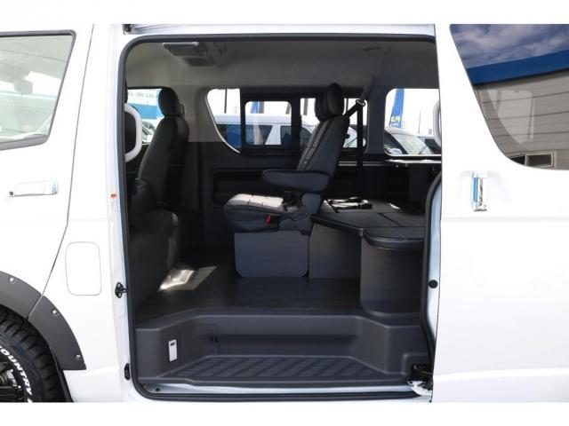 GL ロング VER.1 FLEX+JAOSコンプリートカー トヨタセーフティセンス バッドフェイスボンネット 16インチアルミホイール ナビ フリップダウンモニター バックカメラ ETC ベッドキット(14枚目)
