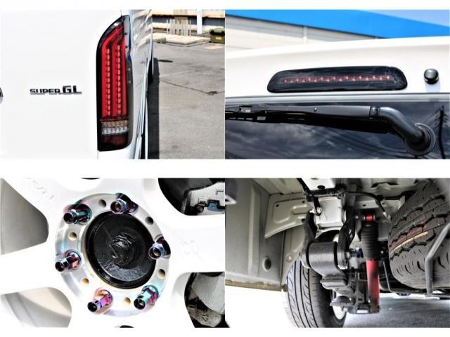 スーパーGL ダークプライム 買取直販 4型 ダークプライム ディーゼル 4WD パールホワイト 両側パワースライドドア 助手席エアバッグ 100Vアクセサリーコンセント 寒冷地仕様 ミラーヒーター 内外装フルカスタム(11枚目)