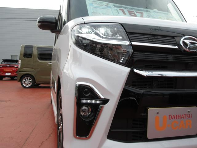 カスタムX ツートンカラー 次世代スマートアシスト 両側パワースライドドア LEDヘッドライト オートライト スマートキー プッシュボタンスタート LEDフォグランプ レーンアシスト オートマチックハイビーム車(9枚目)
