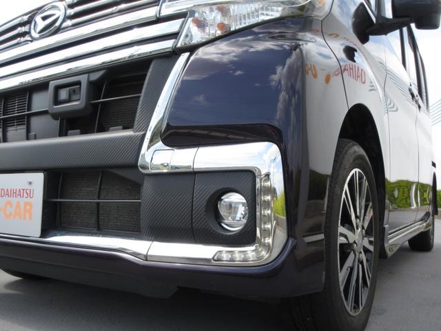 カスタムX トップエディションSAII 4WD ワンオーナー LEDヘッドライト ナビ プッシュボタンスタート スマートキー オートライト フォグランプ レーンアシスト 左側パワースライドドア  純正アルミ(4枚目)