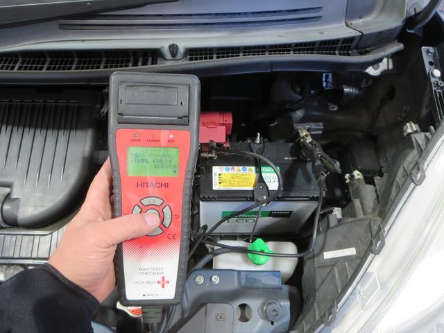 バッテリーは専用テスターで測定後70%を下回っている様であれば交換致しておりますので、こちらのバッテリーは納車前にもう1度チェックいたしますね。
