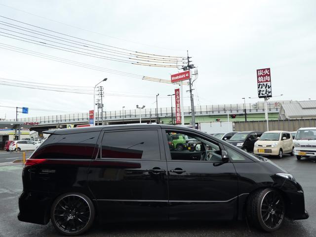 トヨタ エスティマ アエラス TEIN車高調 RAYS20AW フリップダウン